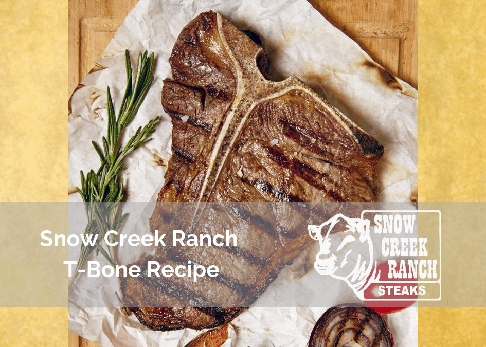 T-Bone Steak Recipe with Colorful Peppers